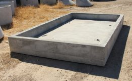 Custom slab for turnout structure